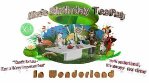 Just 4 Kids Salon Alice in Wonderland Birthday Tea Party