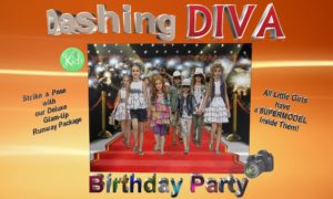Just 4 Kids Salon - Dashing Diva Kids Birthday Party Logo FINAL
