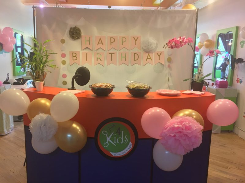 Just 4 Kids Salon - Pamper Me Party Reception Area